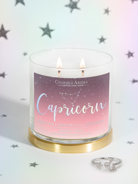 Capricorn Candle - Zodiac Ring Collection