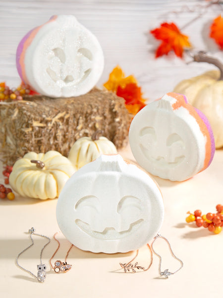 (JUMBO) Ghost Pumpkin Bath Bomb - Nature Inspired Bracelet Collection