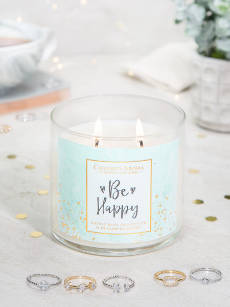 Be Happy Candle - Dainty Ring Collection