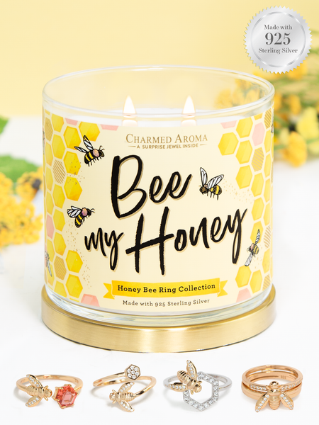 Honey Bee Candle - Honey Bee Ring Collection