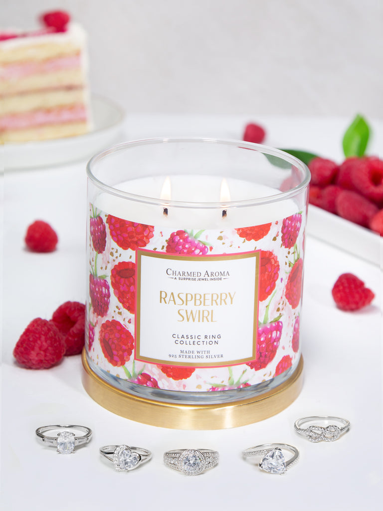 Raspberry Swirl Candle - Classic Ring Collection