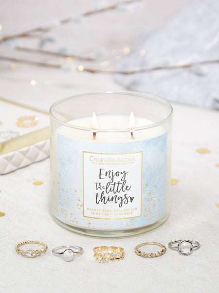 Enjoy The Little Things Candle - Dainty Ring Collection
