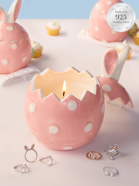 Jumbo Easter Bunny Candle - Bunny Ring Collection