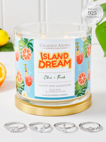 Island Dream Candle - 925 Sterling Silver Dainty Ring Collection