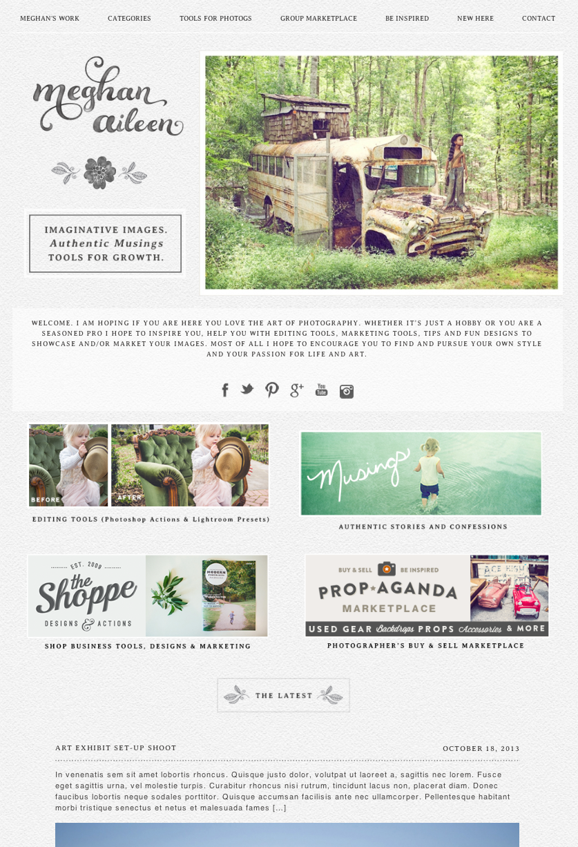 blog home page