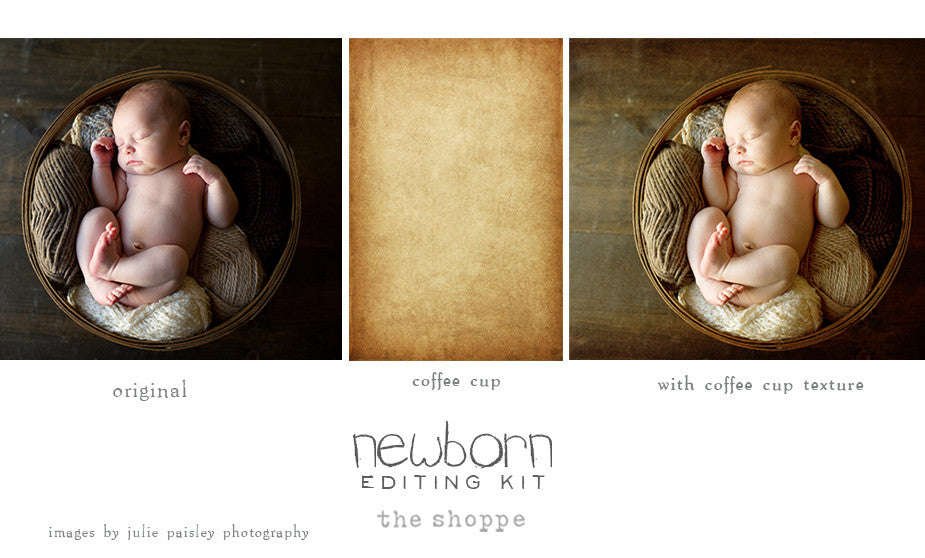 Newborn Editing Kit Photoshop Actions and Textures for CS