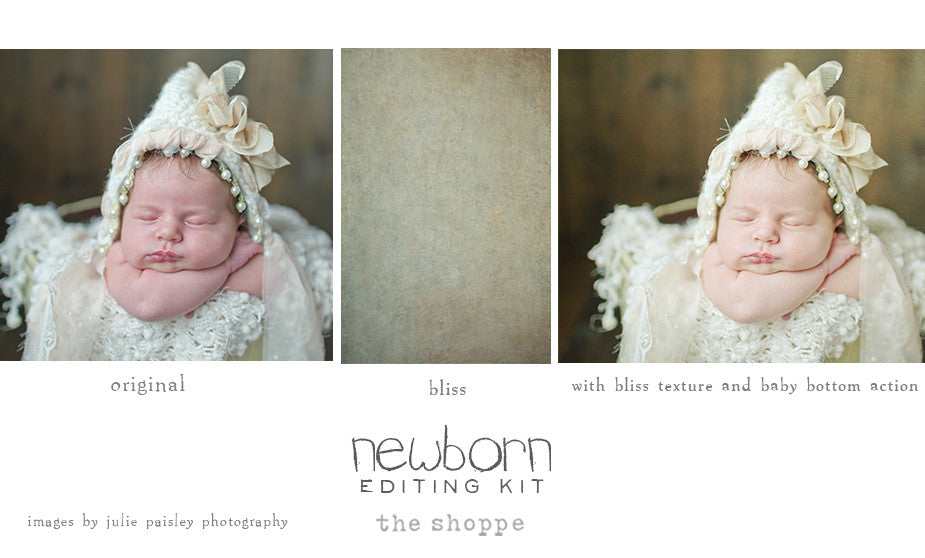 Newborn editing kit photoshop actions and textures for photoshop elements