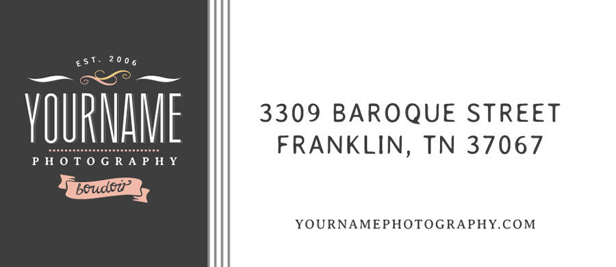 Paris 1900 Boudoir Photography Branding Pack Photoshop Templates