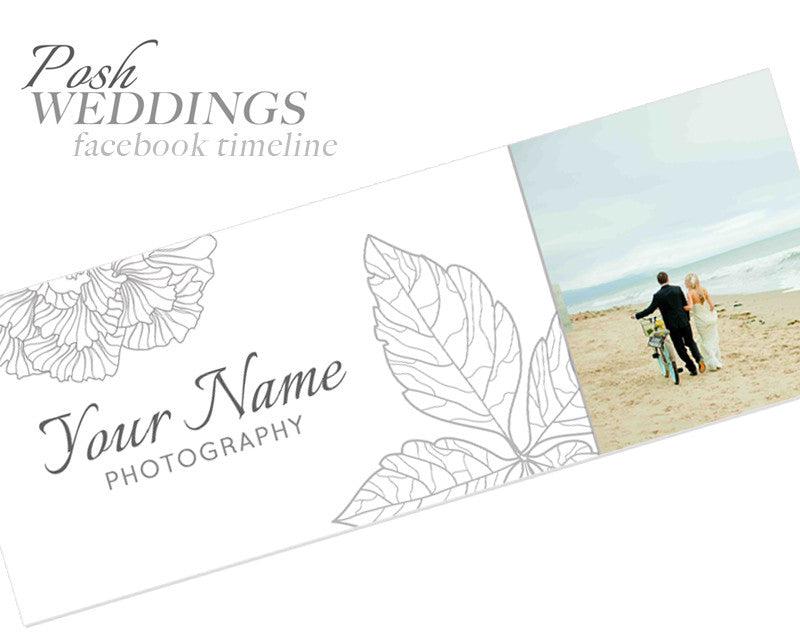 POSH WEDDINGS FACEBOOK TIMELINE COVER
