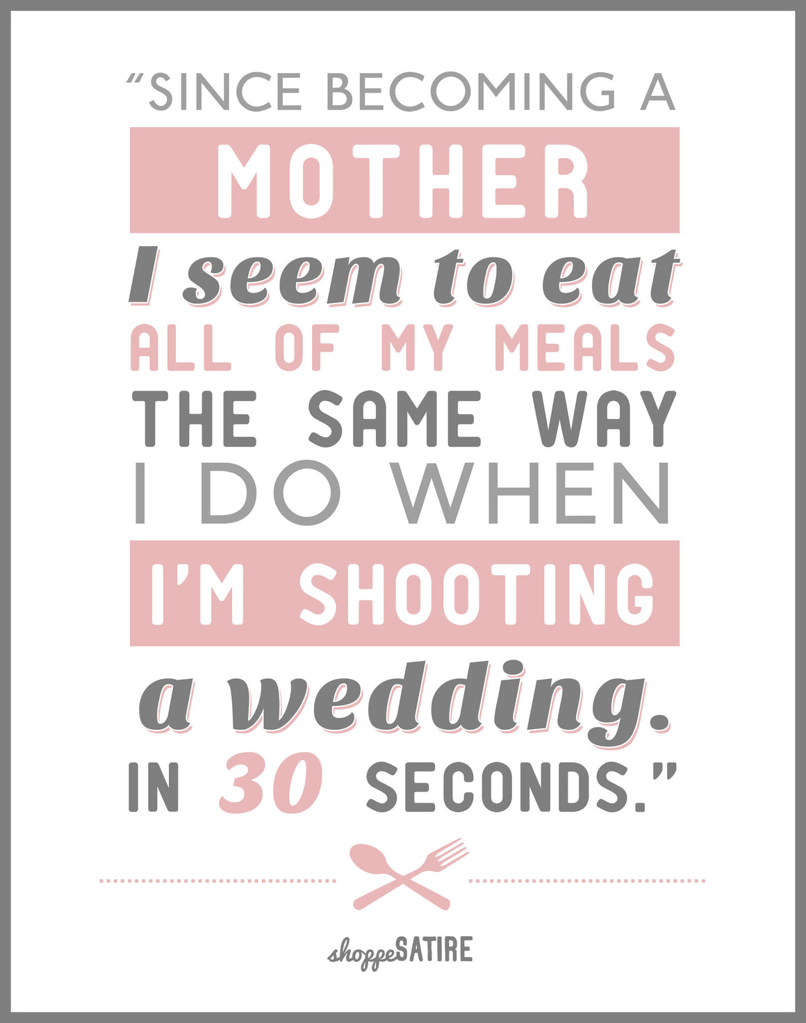 Shoppe Satire ~ Weddings & Children