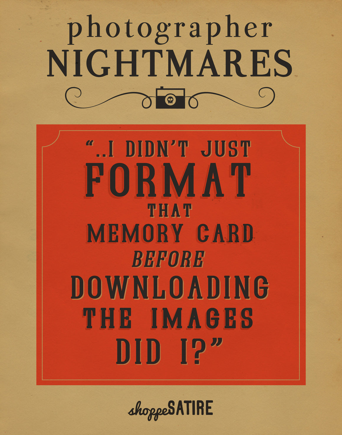 Shoppe Satire Printable ~ Memory Card Nightmare