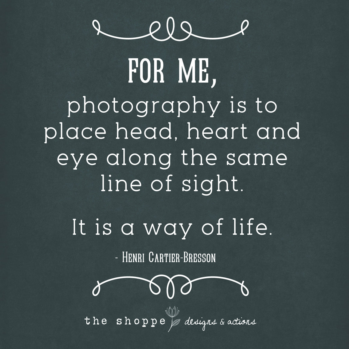 Shoppe True Statements Printable ~Photography Is