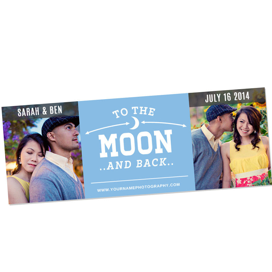 TO THE MOON WEDDING TIMELINE Photoshop Template