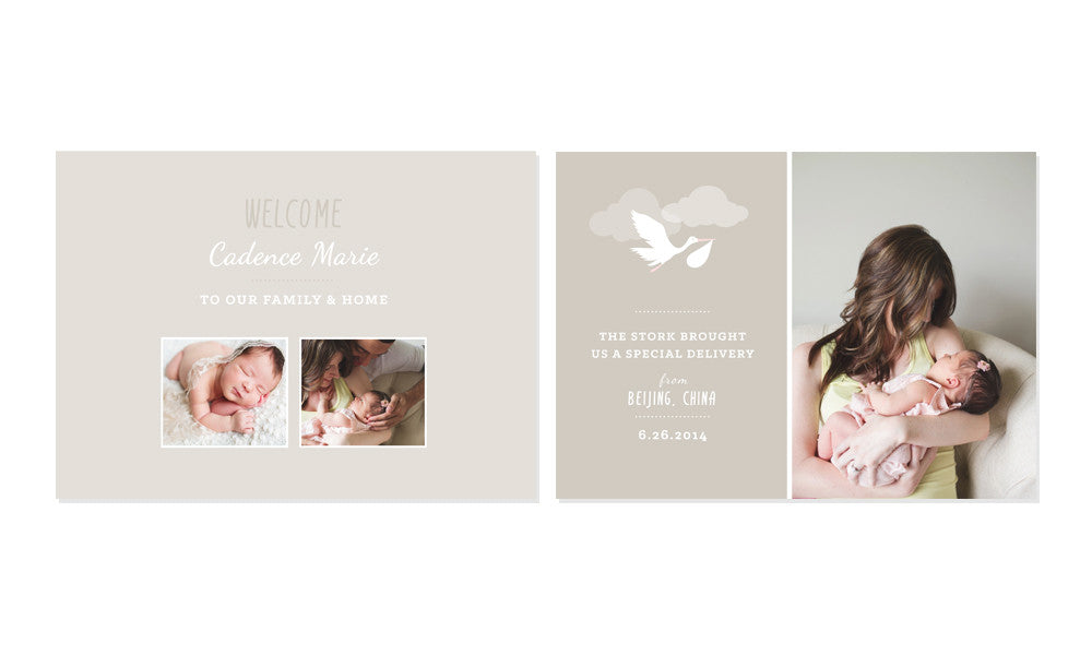 BABY ADOPTION ANNOUNCEMENT SET