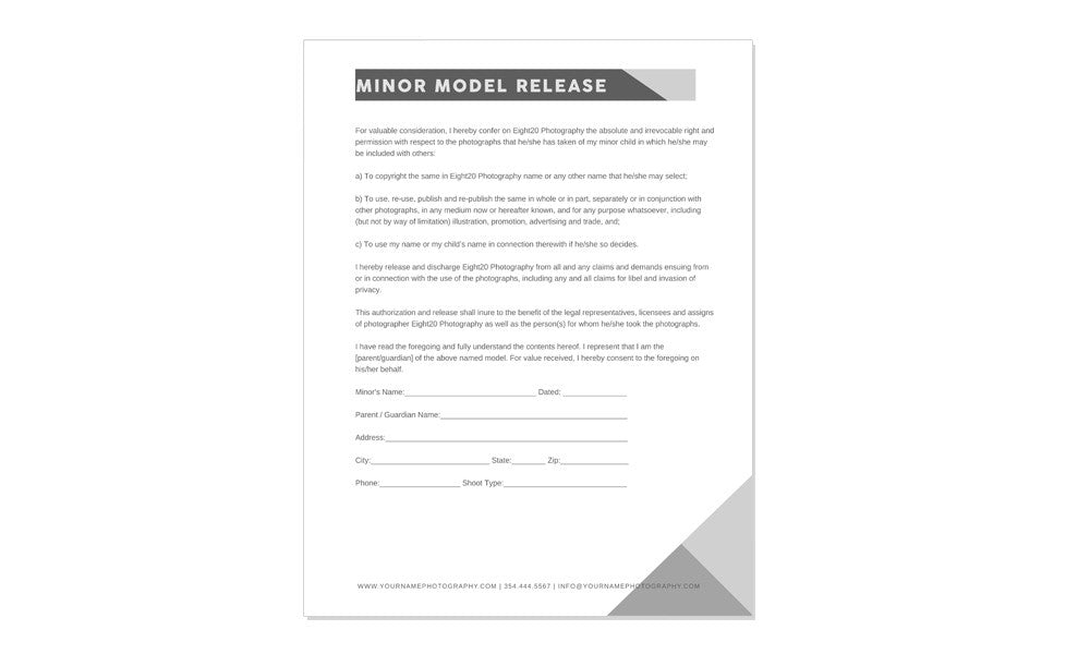 PORTRAIT BUSINESS KIT CONTRACTS AND FORMS
