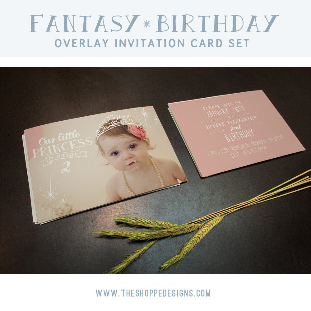PHOTOSHOP PHOTO OVERLAY FANTASY BIRTHDAY INVITATIONS