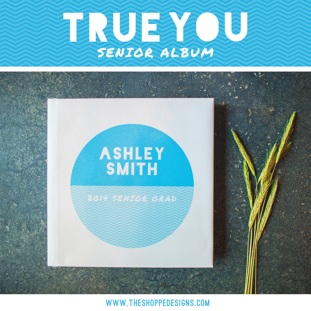 TRUE YOU SENIOR SIGNING ALBUM PHOTOSHOP DESIGN TEMPLATE