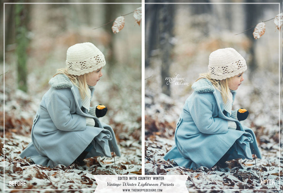 Vintage Winter Lightroom Presets Mini Set