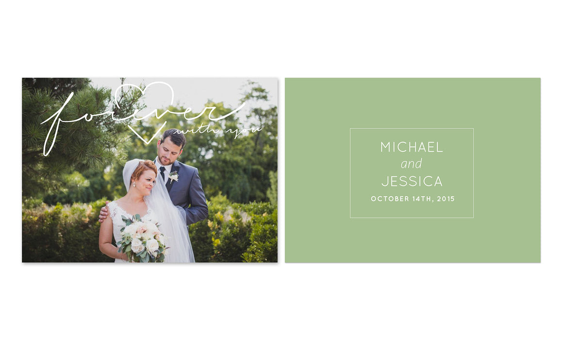 Forever with you wedding overlay card set