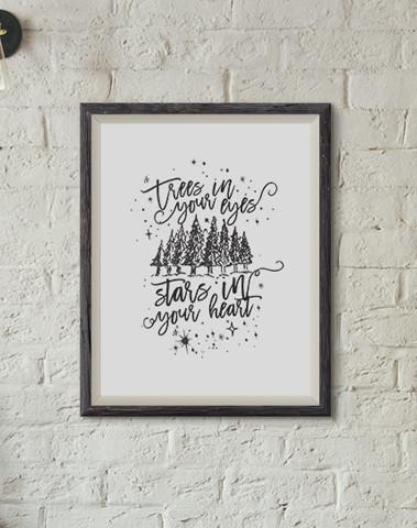 Trees in Your Eyes Print