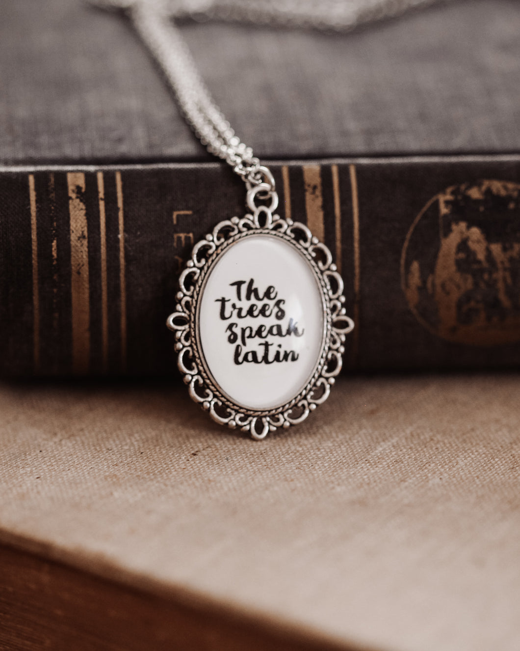 The Trees Speak Latin Necklace