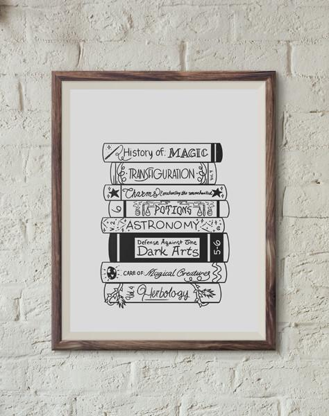 Magical Books Print