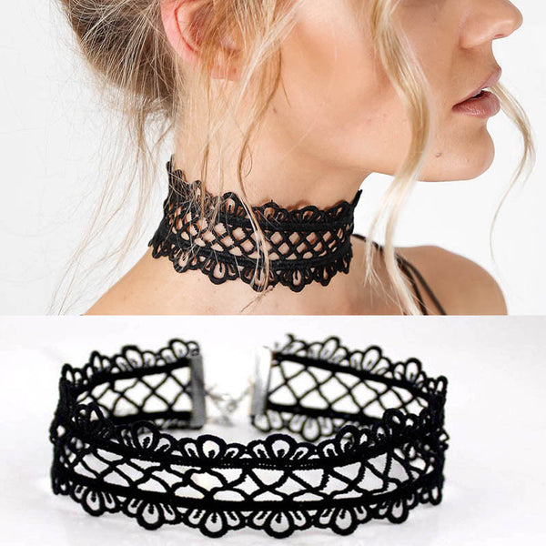 Sexy Hollow Vixen Black Lace Choker