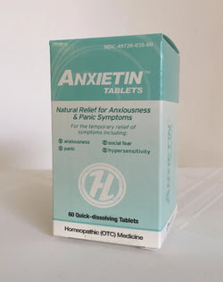 Anxietin (60 tablets) Anxiousness & Panic. Homeopathic