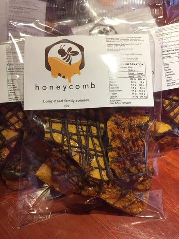 Our home made honeycomb can be ordered with or without drizzled chocolate on top