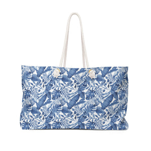 Open image in slideshow, Weekender Bag- Blue Tropical - Just Madras
