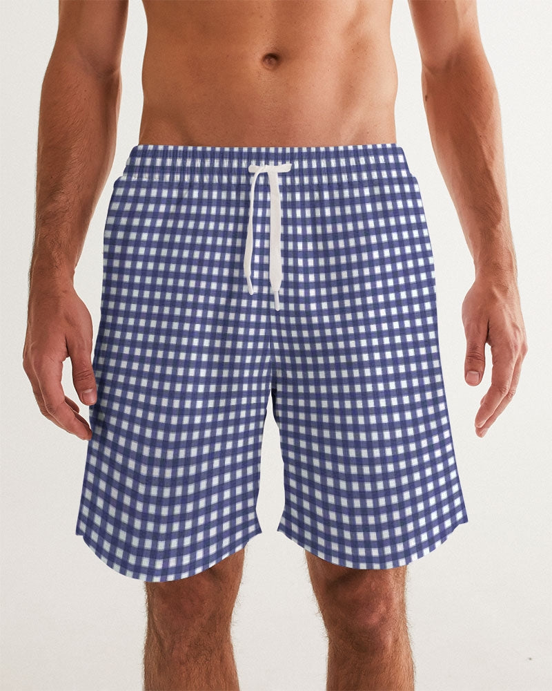 Men's Swim Trunk- Gingham - Just Madras