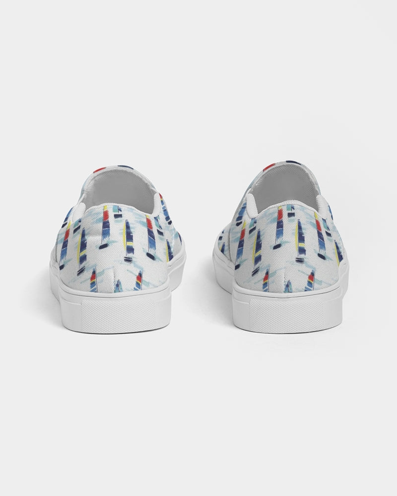 Slip-On Canvas Shoe- Sailboats - Just Madras