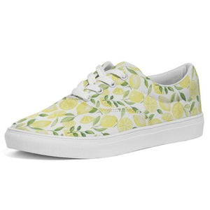 Lace Up Canvas Shoe- Lemons - Just Madras