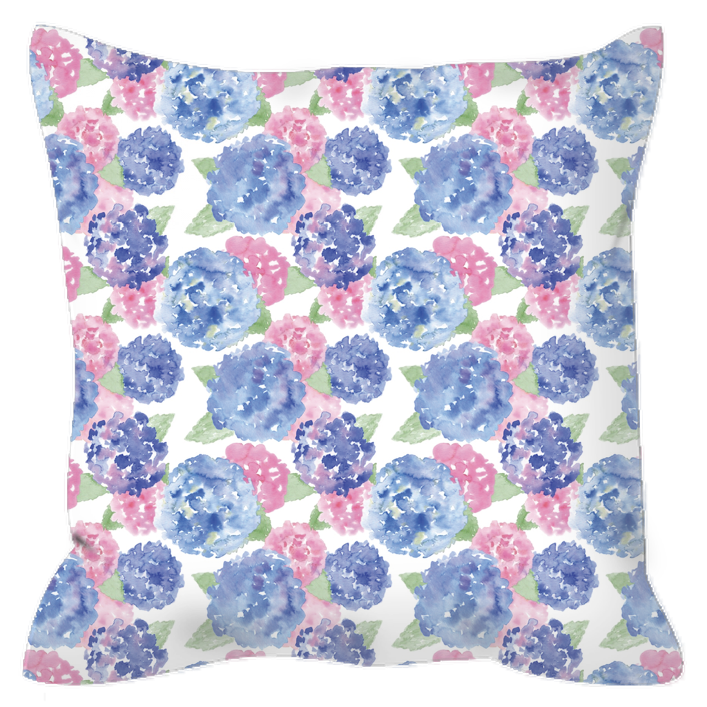 Outdoor Pillows- Hydrangea (3 Sizes Available) - Just Madras