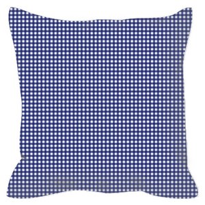 Open image in slideshow, Outdoor Pillows- Navy Gingham - Just Madras