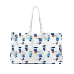 Weekender Bag- Sailboat Print - Just Madras