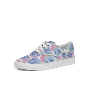 Lace Up Canvas Shoe- hydrangea - Just Madras