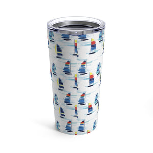 Tumbler 20oz- Sailboat Print - Just Madras