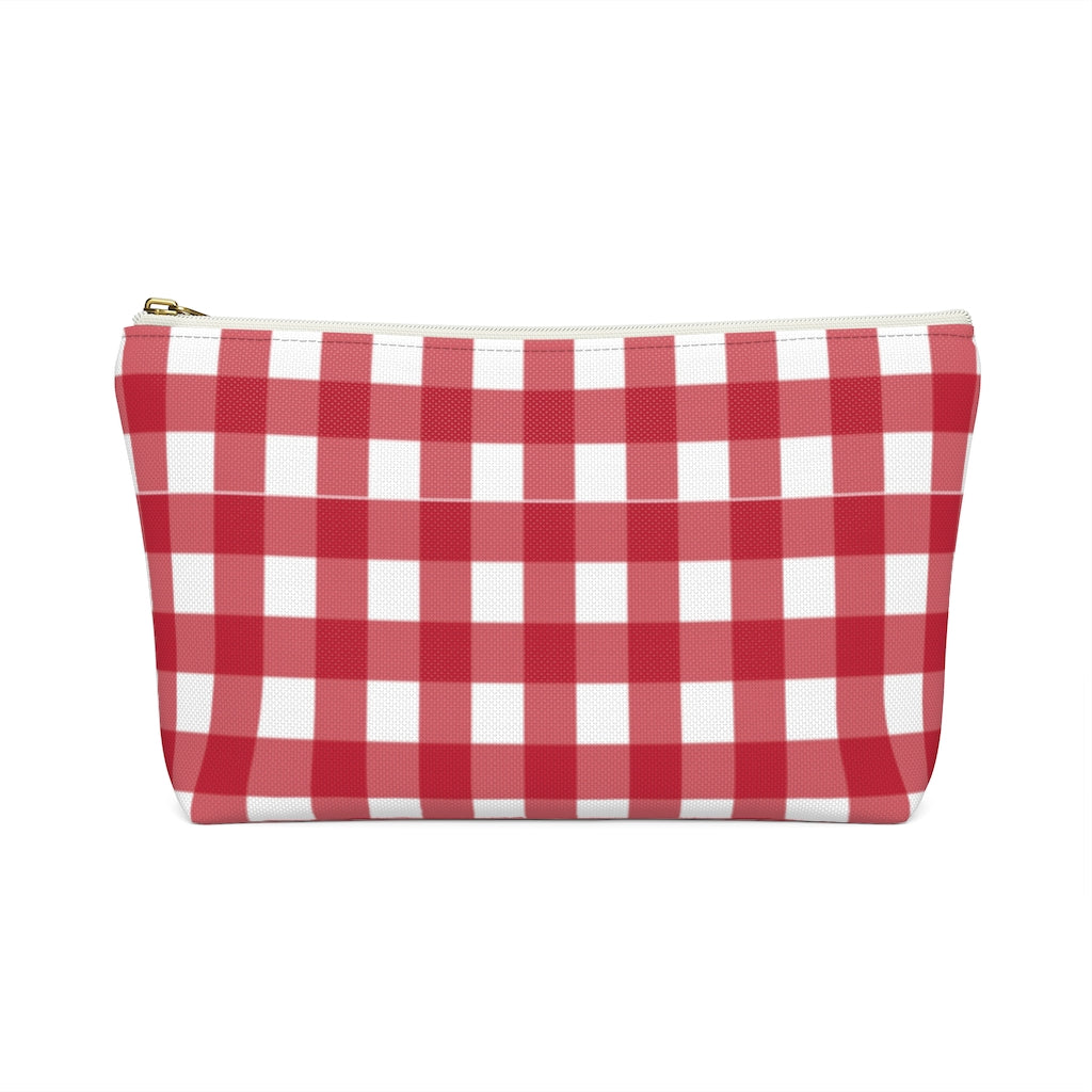 Accessory Pouch- Red Gingham - Just Madras