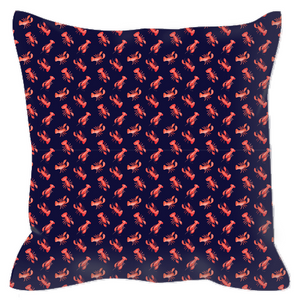 Outdoor Pillows- Navy Lobsters - Just Madras