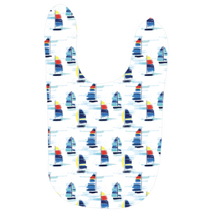 Open image in slideshow, Baby Bibs- Sailboat Print - Just Madras