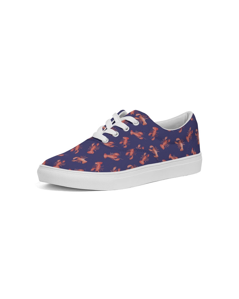 Lace Up Canvas Shoe- Navy Lobster - Just Madras
