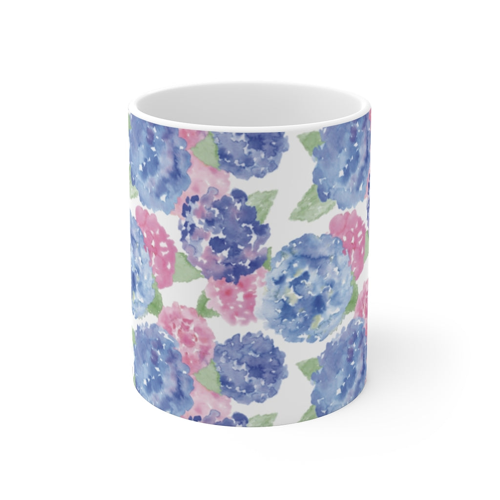 Mug 11oz- Hydrangea Print - Just Madras