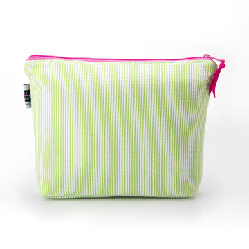 Seersucker Cosmetic Bag- Lime Green