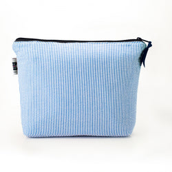 Seersucker Cosmetic Bag- Blue