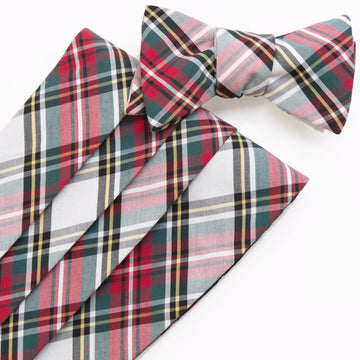 Typewriter Cloth Cummerbund Set- Stewart Tartan