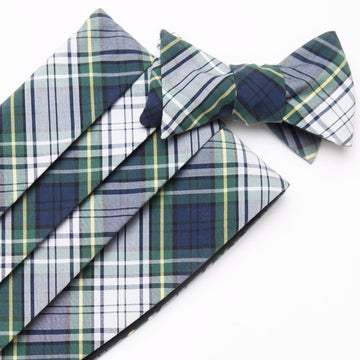 Typewriter Cloth Cummerbund Set- Campbell Tartan - Just Madras