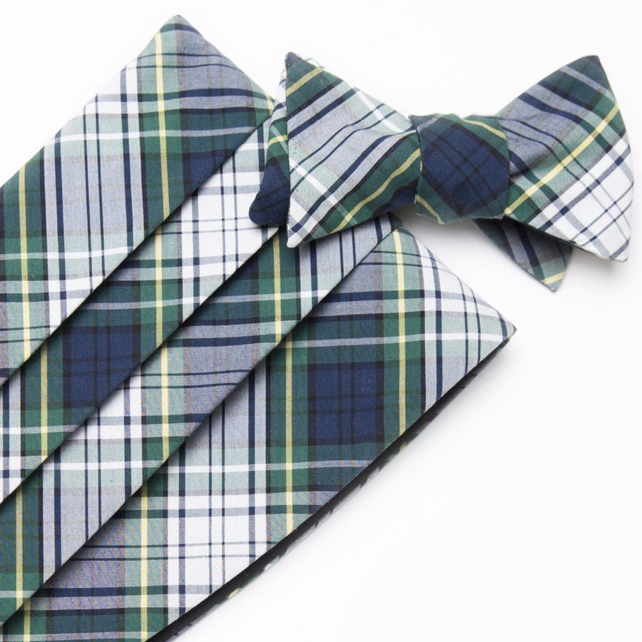 Typewriter Cloth Cummerbund Set- Campbell Tartan