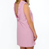 Olivia Dress- Pink Seersucker