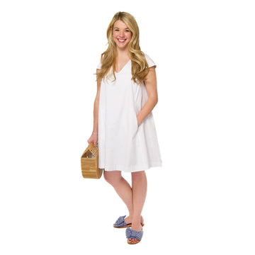Maggie Dress- White - Just Madras